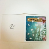 Simple and Elegant Christmas Card 🌌⛄❄