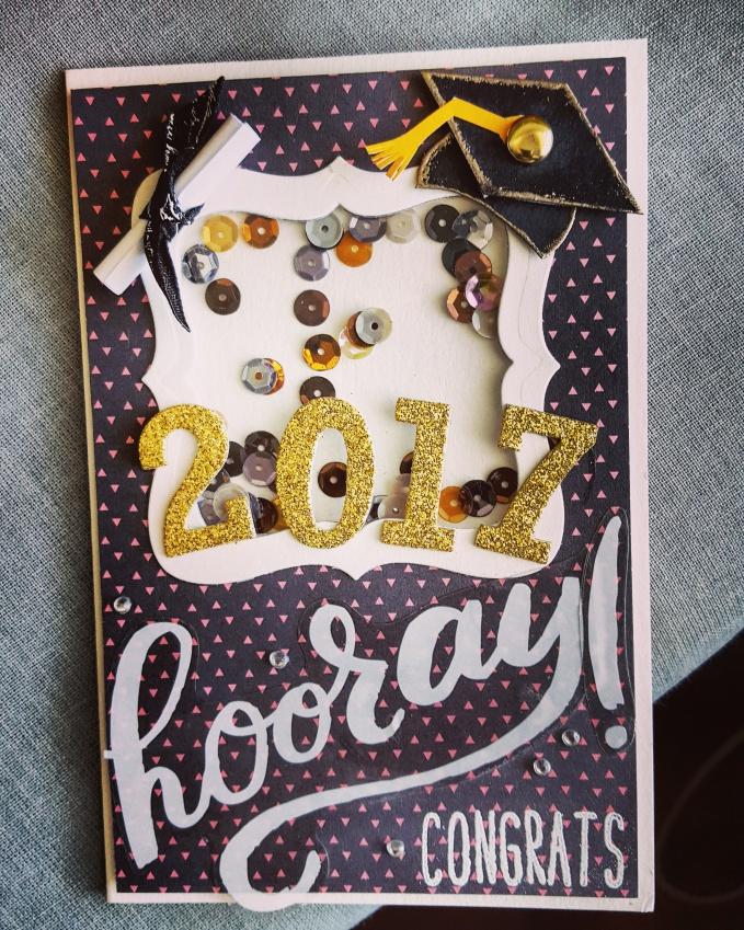 Graduation Cap Card Class Of 2017 Artful Geet Creations